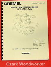 Dremel Model 1680 16 Scroll Saw Operators Amp Parts Manual 0281