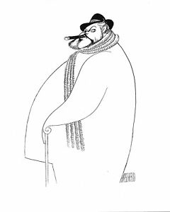 Al-Hirschfeld-039-s-ORSON-WELLES-Hand-Signed-Limited-Edition-Lithograph