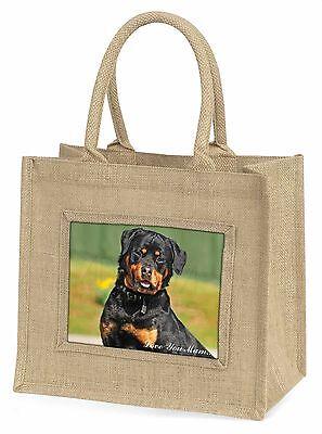 Rottweiler Hund 'Liebe, die Sie Mama' Große Natürliche Jute-einkaufstasche Chri,