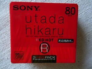 3pack-Brand-New-SONY-034-Utada-Hikaru-Red-Hot-034-MD80-Minidisc-Factory-sealed