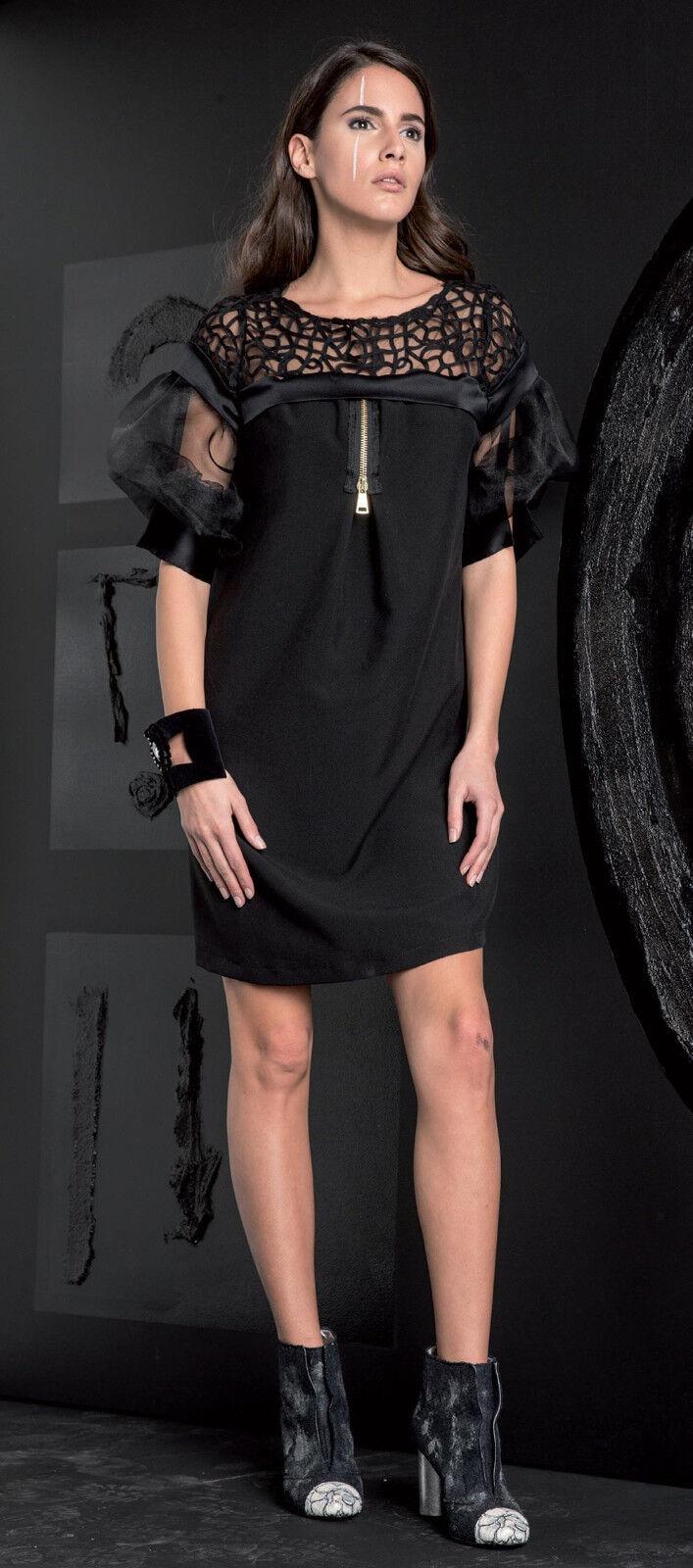 ELISA CAVALETTI Kleid Dress black Gr. S (36), M (38) Koll. HW17 18 SPITZE
