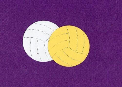 VOLLEYBALL die cuts scrapbook cards