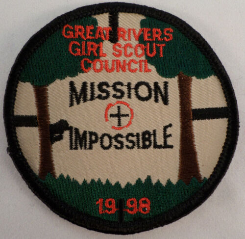 Vintage Girl Scout Great Rivers Council Mission Impossible 1998  #Gs-Bk