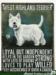 plaque sign West Highland terrier Westie Large Keyring dog