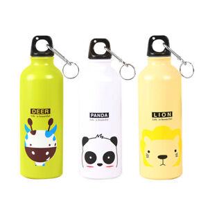 500ml Lovely Cartoon Animal Aluminum Portable Outdoor Sport Running Water Bottle
