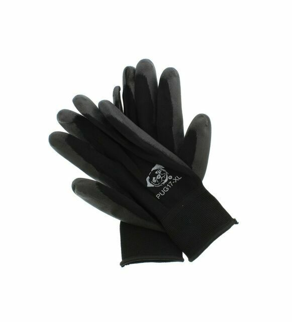 Global Glove PUG Lightweight Polyurethane Coated Anti-Static/Electrostatic Compliant Gloves - Black, XL
