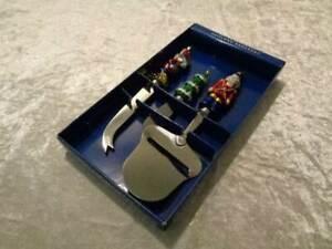 Heirloom-Ornament-3-Piezas-Queso-Servir-Set-Cheese-Porcion-Navidad-NOS