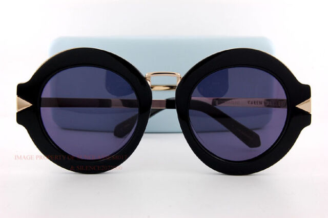 545ddfcc3d38 Brand New KAREN WALKER Sunglasses Maze KW Handmade 1501603 Black Gold Women