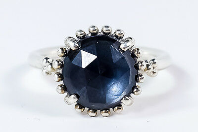 Authentic PANDORA Sterling Silver Midnight Star Ring Size 9 (60 Euro) S925 ALE