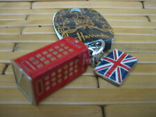 HARRODS Keychain LONDON 3D Phone Box RED TELEPHONE BOOTH UK  Key Ring