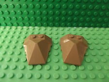 2 x Lego Dark Tan Wedge 4 x 4 Pyramid Centre Spare Part Batman 47757 S020