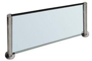 Details zu Küchenrückwand Glas Spritzschutz Küche auf der Arbeitsplatte in  Edelstahl-Optik
