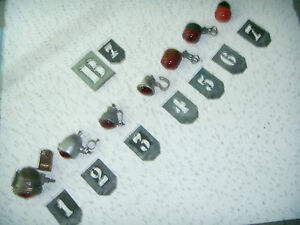 FANALINI-POSTERIORI-LOTTO-7-sette-PEZZI-x-BICI-EPOCA-n-1-prismatico-x-carburo