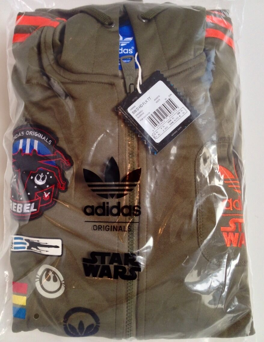 adidas Originals Star Wars X Wing Hoodie Military Jacket Men Size XL Extra Large