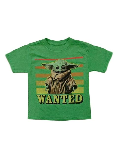 Star Wars Boys The Mandalorian Baby Yoda Wanted T-Shirt ...