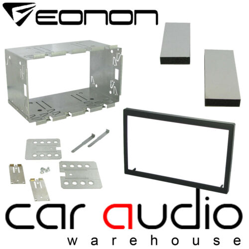 EONON 100mm Universal Double Din Car Stereo Radio Cage /& Brackets Fitting Kit