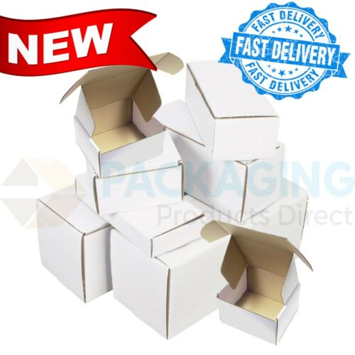 """White Compact 12x9x2.5/""""  Sturdy Postal Mailing Packaging Die-Cut Cardboard Boxes"""