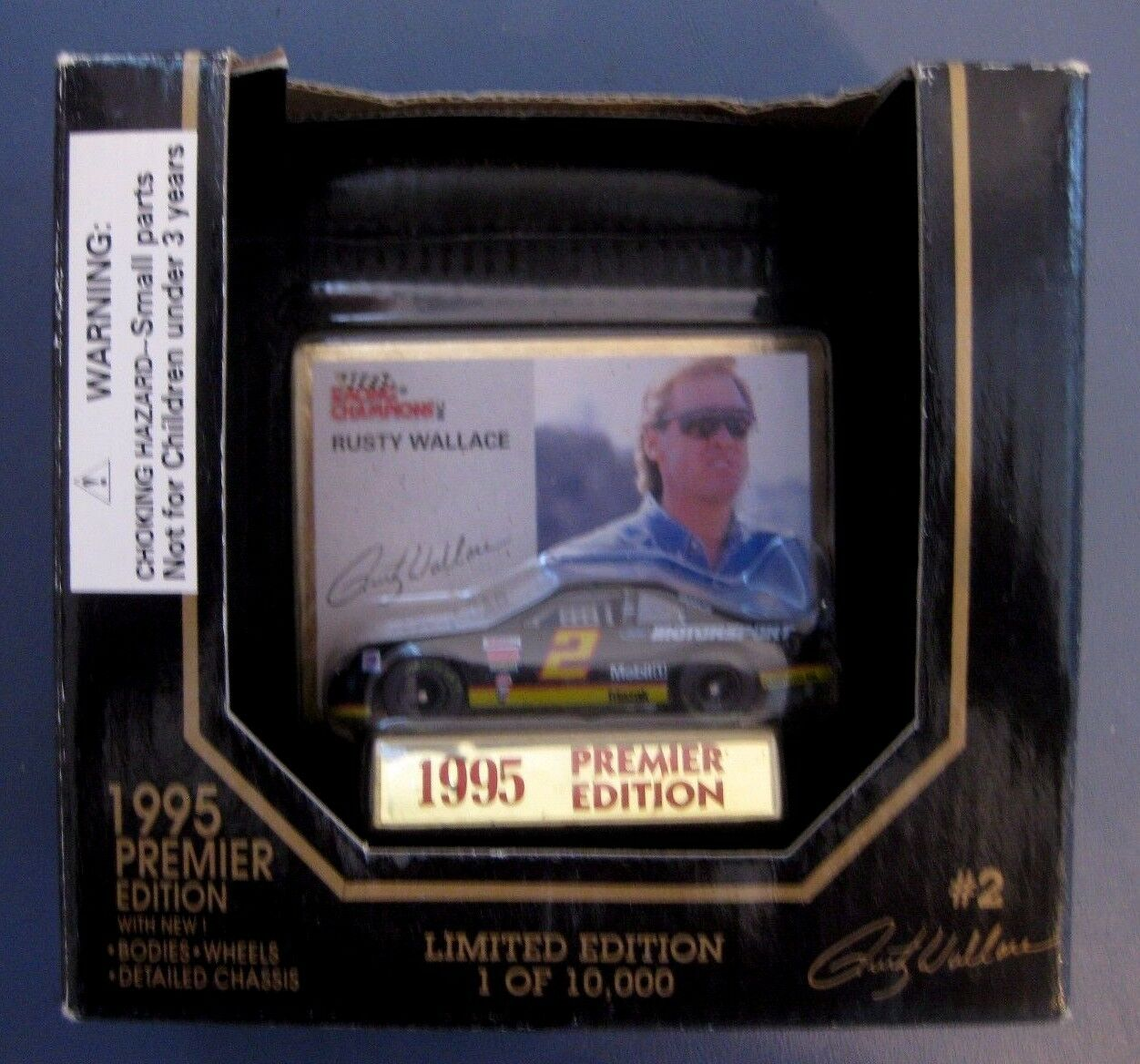 RUSTY RUSTY RUSTY WALLACE  2 FORD MOTORSPORT 1995 RACING CHAMPIONS PREMIER 1:64 ONE OF 10000 af813c