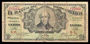 El-Banco-del-Estado-de-Mexico-1-Peso-2-09-1914-M404-BK-MEX-1-Series-3-Fine