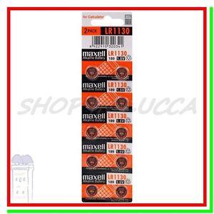 10-BATTERIE-PILE-MAXELL-LR1130-LR54-AG10-L1131F-189-GP89A-389-390-SR54-SR1130SW
