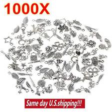 50PCS Bulk Lots Tibetan Silver Halloween Pendants Charms DIY Jewelry FindingDK0
