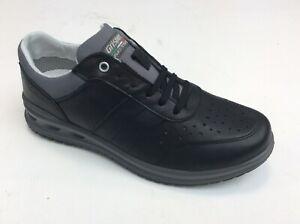 Schuhe-Grisport-Active-Echtes-Leder-Herren-Schnursenkel-Art-43055-Mit-Schwarz-IN