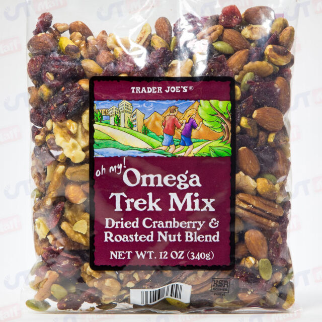 Trader Joe's Omega Trek Mix Dried Cranberries & Roasted Nut Blend Trail 12 oz