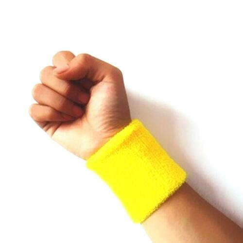 10pcs Wristbands Wrist band Sweatbands Sweat Band for Sport Tennis Badminton Lot