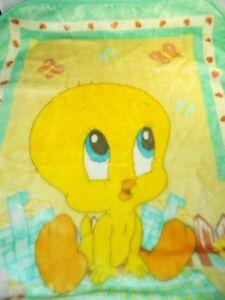 Tweety Kuscheldecke.Looney Tunes Tweety Bird Decke Uberwurf Baby Kleinkind 29x42