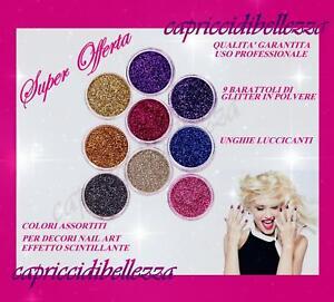 Barattolini-di-polvere-di-glitter-per-decorazioni-nail-art-ricostruzione-unghie