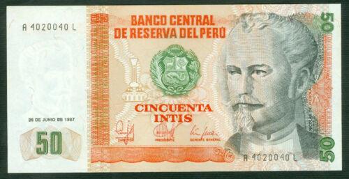 P 131  LOT 5  PCS 50  INTIS 1987 Uncirculated PERU/'
