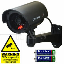 Scare Thief Black Dummy CCTV Security Camera Flashing LED Outdoor, Office Gift