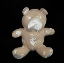 "Rocawear Roca Wear Tan White Teddy Bear Plush Soft Toy Stuffed Rattle 6"""