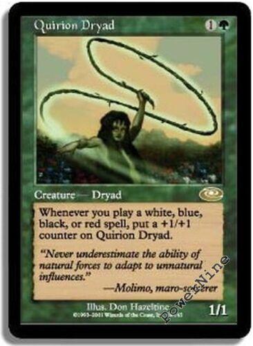 Green Planeshift Mtg Magic Rare 4x x4 4 PLAYED Quirion Dryad