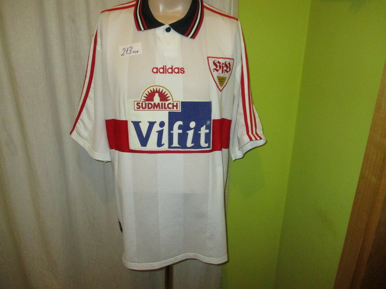VfB Stuttgart Original Adidas Trikot 1996 97  Vifit Südmilch  Gr.XXL TOP    Schön und charmant
