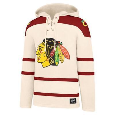 Chicago Blackhawks Jersey Hoodie Pullover Creme | eBay