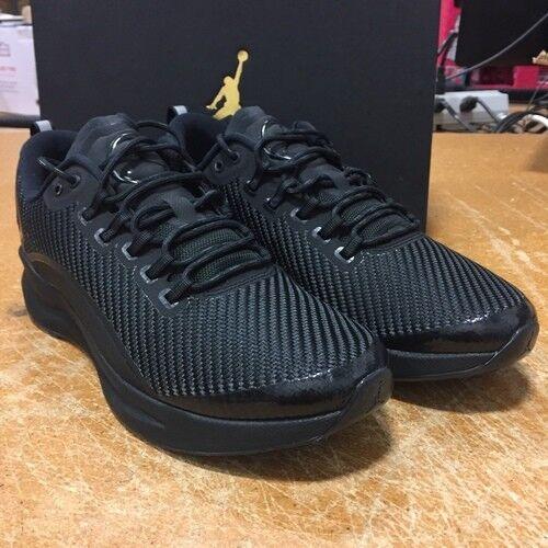 Nike Men's Air Jordan Zoom Tenacity Running Shoes Sneakers Triple Black Size 10