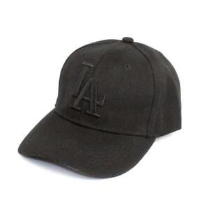Embroidered-LA-Dodgers-Strapback-Baseball-Cap-Black-One-Size-Fits-Most