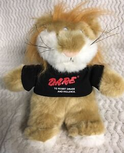 "D.A.R.E. TO RESIST DRUGS AND VIOLENCE Plush Doll Stuffed Animal LION 12"" DARE"