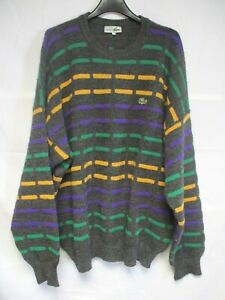 Pull-LACOSTE-Devanlay-gris-a-motifs-made-in-France-laine-acrylique-6-XXL