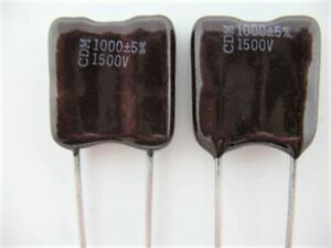 8X  330pF 500 VOLTS 1/% TOL DIPPED SILVER MICA CAPACITOR ~~/> Great for RF  #000