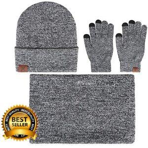 af9adf0713f Image is loading Hat-Scarf-and-Gloves-Set-Aisprts-Winter-Scarf-