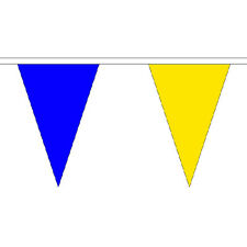 ROYAL Blu e Giallo Triangle Bunting 20m (54 BANDIERE) FESTIVAL Summer Fete DECOR