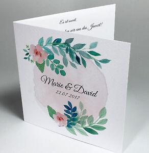 Das Bild Wird Geladen Einladungskarten Hochzeit Geburtstag Mit Text Druck  Einladung Karten