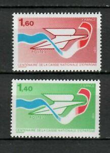 s25289-FRANCE-1981-MNH-Postal-saving-bank-2v