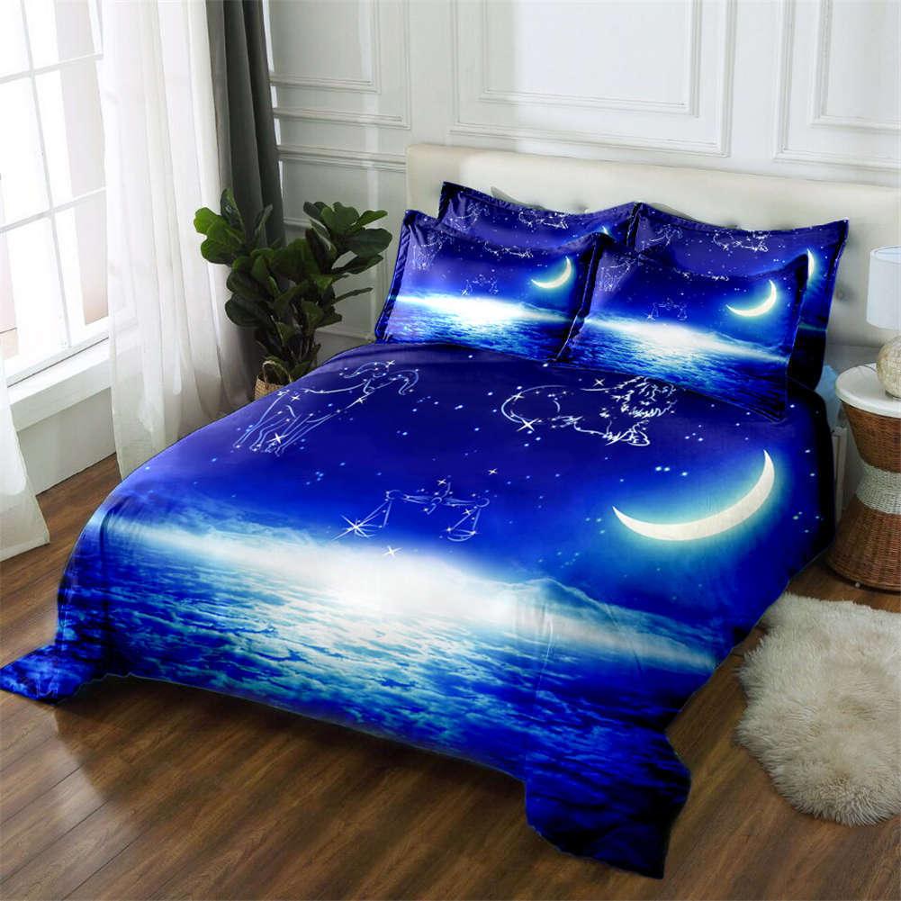 Dark Star Sky 3D Printing Duvet Quilt Doona Covers Pillow Case Bedding Sets