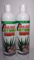 2x Nace+ Mass Ajo Y Savila (pack Of 2 Bottles) 16 Fl Oz Ea. Unisex Daily Shampoo