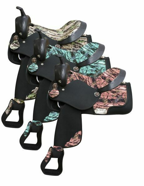 16 Double T CAMO Print Synthetic SADDLE Bridle Breast Collar & Reins SET