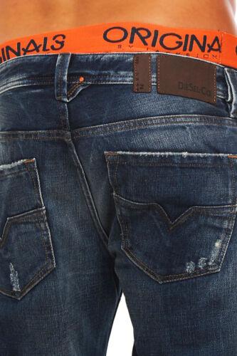 JEANS DIESEL Larkee 0885w 885w Uomo Pantaloni Regular Straight blu NUOVO