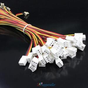 10Pcs-12V-PC-Fan-Power-Splitter-Extension-Cable-Wire-3-Pin-Female-to-3Pin-Male